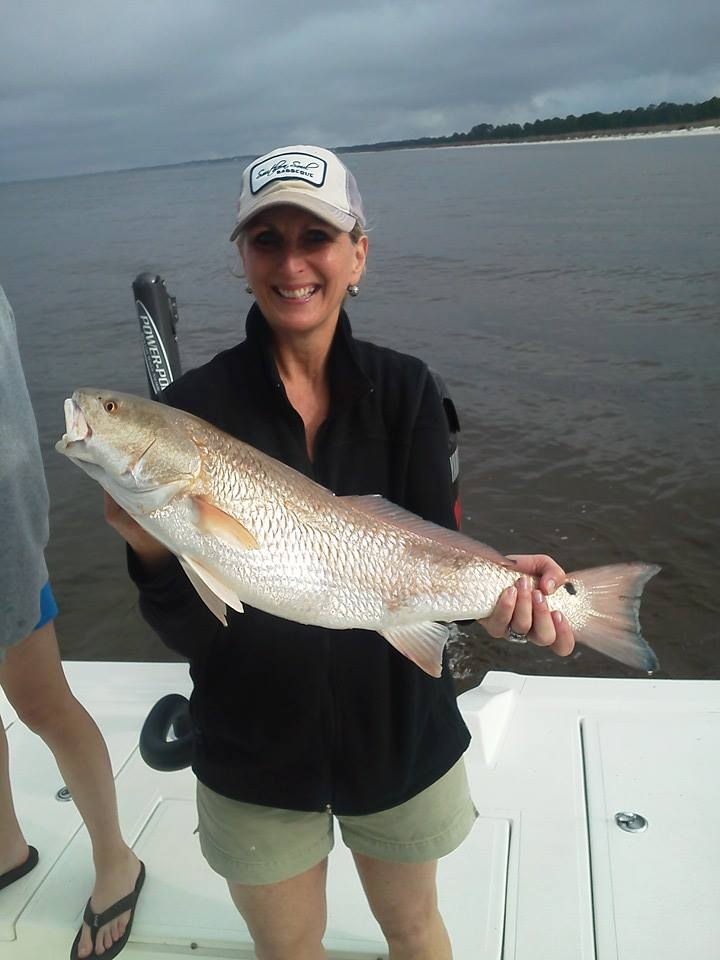 Cape san blas family redfish trip perfect cast charters for Cape san blas fishing