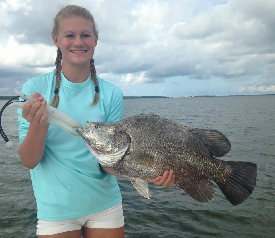 Taylors 39 big triple tail perfect cast charters for Gulf angler fishing charters